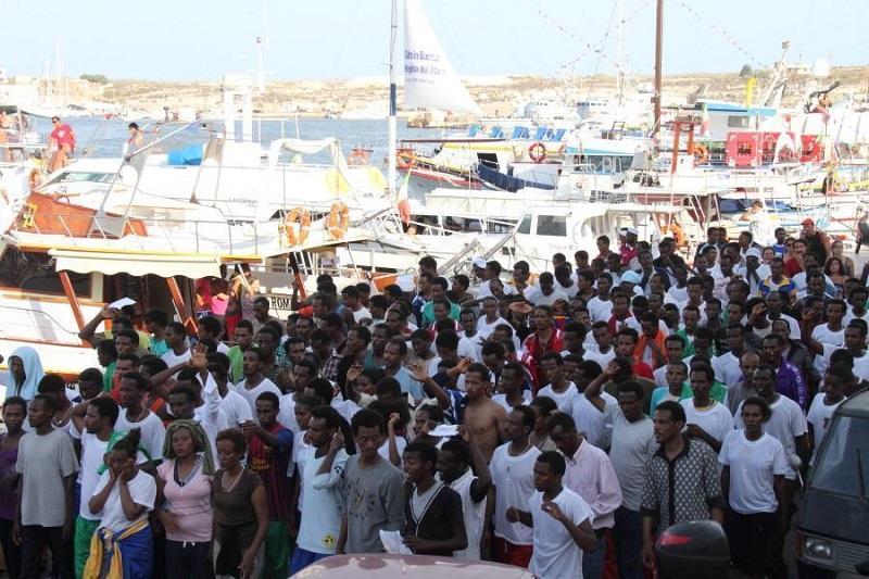 Африканские мигранты в Италии