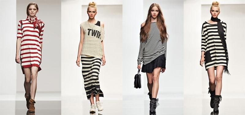 Модные платья в полоску
