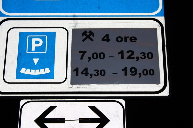 Парковка в Италии бесплатно