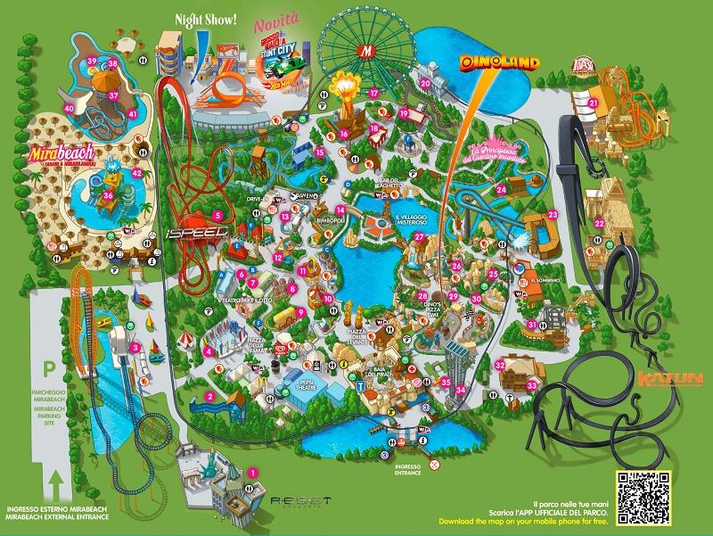 Парк развлечений и аттракционов Мирабиландия Римини