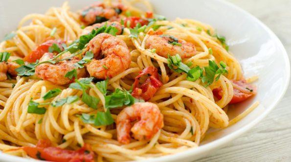 Рецепты итальянской кухни: спагетти с креветками