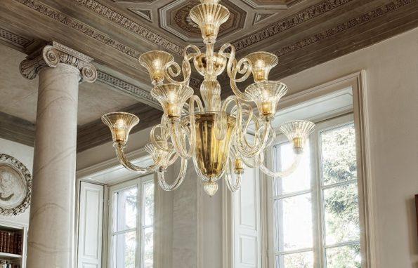 Итальянские люстры из стекла
