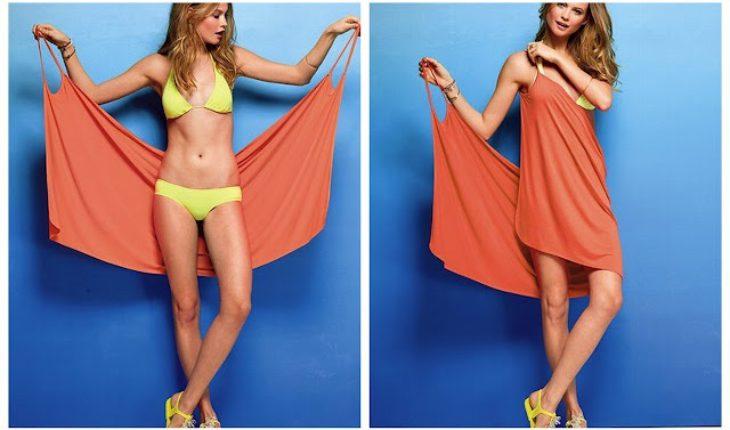 Платье для пляжа за три минуты