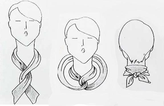 картинки как завязать шарфик первый